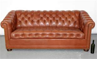 Hancock & Moore Chesterfield leather sofa