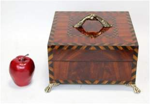 Maitland Smith inlaid lidded box