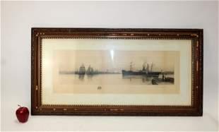 Carlton Theodore Chapman etching seascape