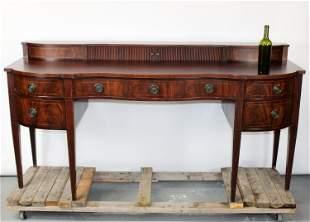 Baker Sheraton style inlaid mahogany sideboard