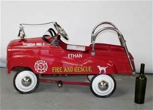 Vintage child's fire engine pedal car