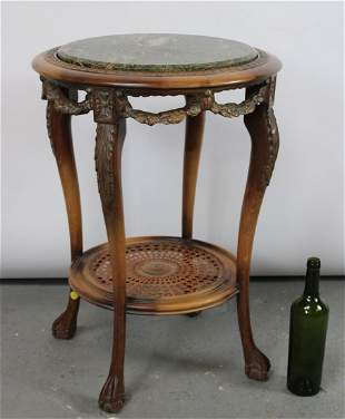 French Louis XVI style marble top table