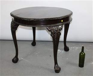 Chippendale mahogany side table