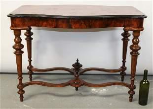 French burl walnut side table