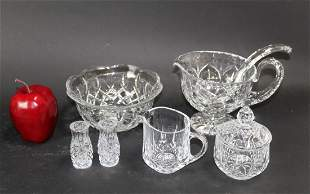 Lot of cut crystal pieces