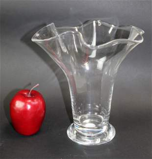Orrefors crystal wave vase