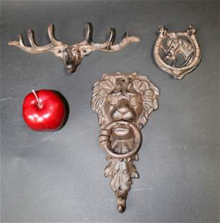 Collection of cast iron decoratives