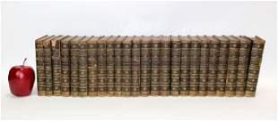 """Lot of 24 antique books """"Scott's Novels"""""""