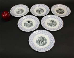 6 Porcelaine de Choisy La Roi plates