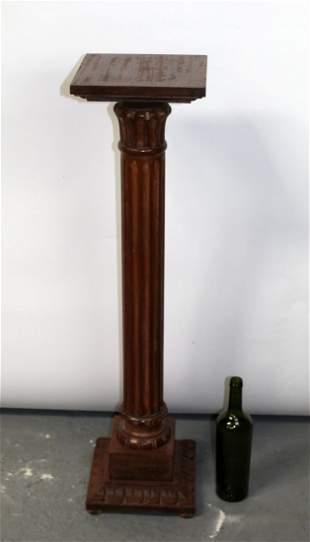 Ethan Allen fluted oak pedestal