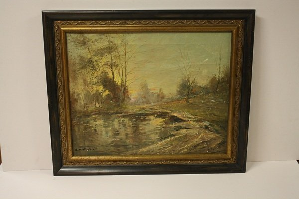 3: Italian oil on canvas landscape, signed