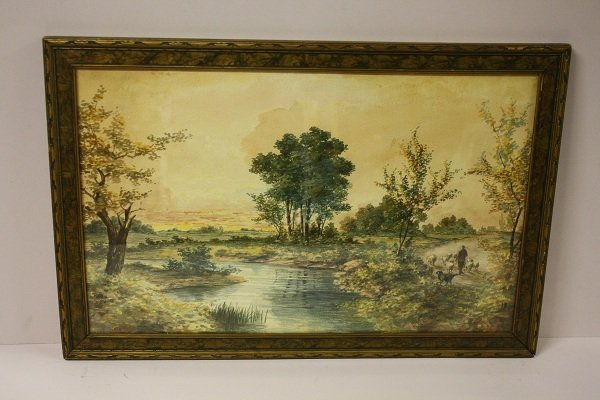 6: Watercolor, attributed to Edmund Darch Lewis