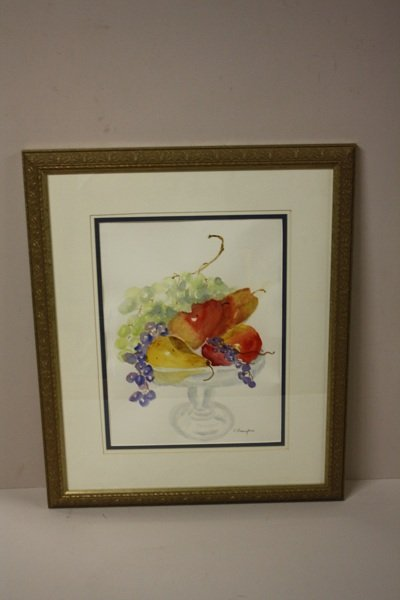 12: Watercolor, Clyde Draughan, stilllife compote