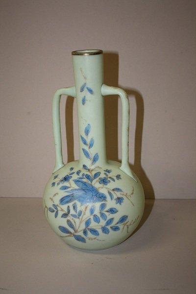 13: Late 19th century Victorian enameled opalene  vase
