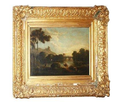 101: Oil on canvas- Tivoli landscape- R.Wilson R.A.