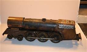 129 Locomotive steam engine bronze English scale mode