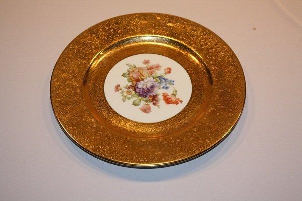 """13A: Limoges 22kt gold border 10.5"""" plate"""