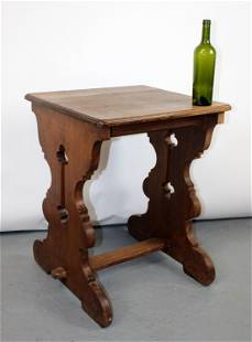 French Gothic Revival oak book table