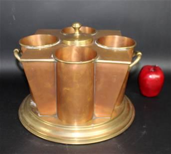Copper 4 bottle wine chiller cellarette