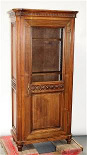 French neo-classical bookcase in walnut