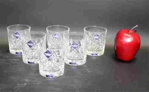 Set of 6 Edinburgh crystal old fashioned glasses