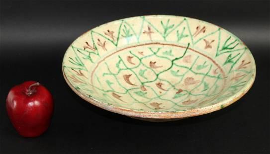 French Provincial glazed terra cotta tian bowl