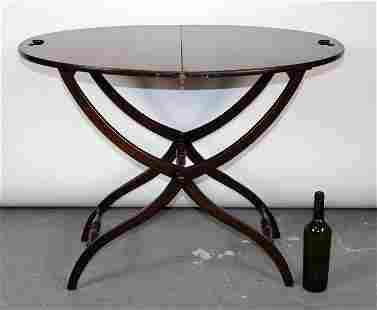 English mahogany butlers folding tray table