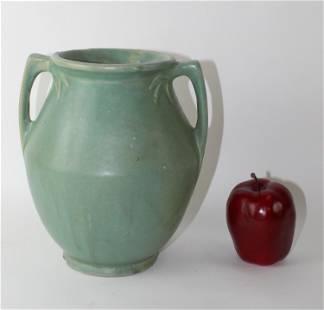 Radford style double handled pottery vase