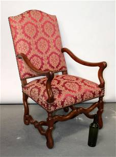 French os du mouton armchair in walnut