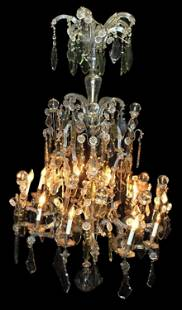 French 10-light crystal chandelier