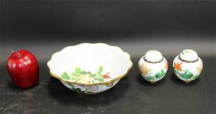 Lot of 3 pieces Chinese cloisonne