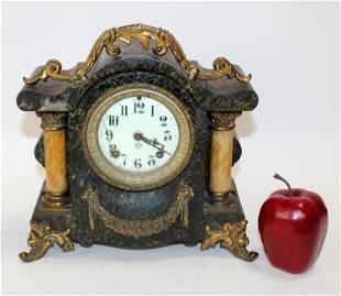 Antique Ansonia cast iron mantel clock