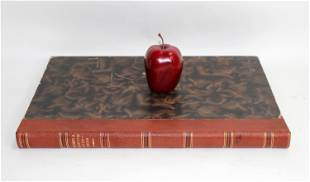 Oversized leather bound Latin book