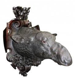 Massive German Black Forest carved moose head