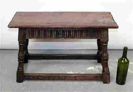 English Jacobean joint stool in oak