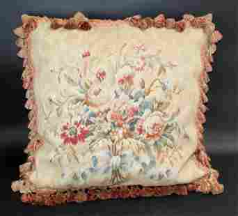 French Floral Aubusson pillow