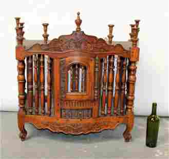 French Provincial panetiere cabinet