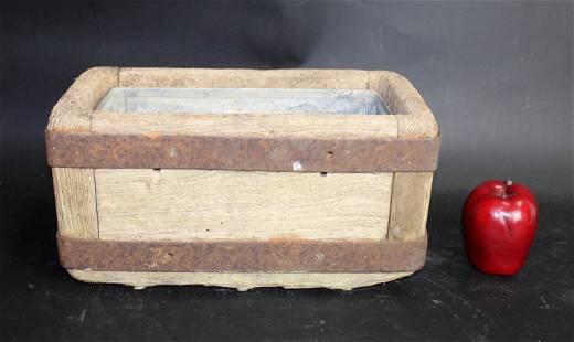 French oak & iron trough planter