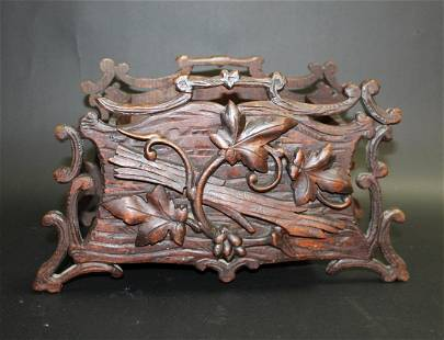 French Black Forest carved jardiniere