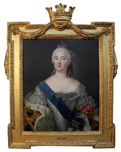 Oil on canvas Catherine of Russia after de Largilliere