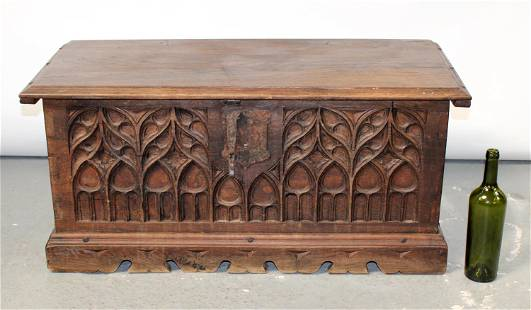 French Gothic Revival trunk