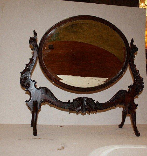 1: English Regency mahogany shaving mirror
