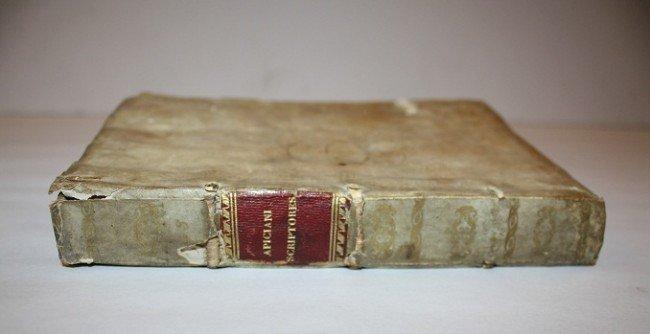 4: Apiciani Scriptores (scripture) Book dated 1541