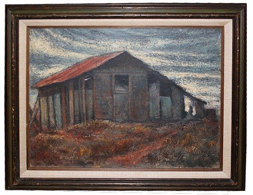 6: Oil on canvas-Barn- signed Phil Link '75