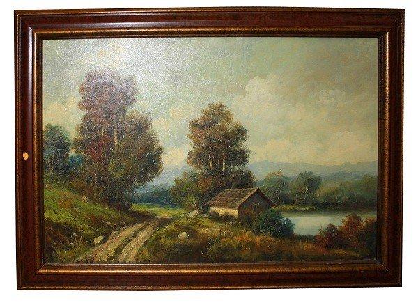 8: Oil on canvas-landscape-signed A. Ferretti