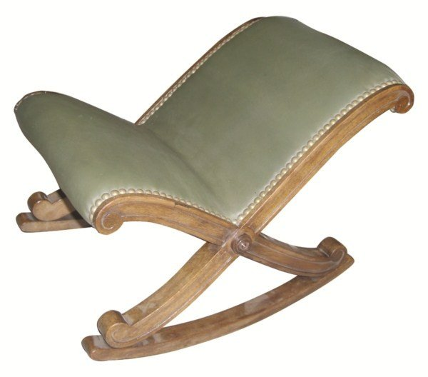 10: French walnut repose pied (rocking footstool)