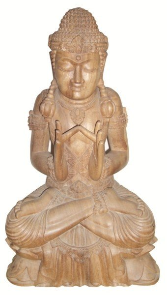 18: Carved wooden deity from Bali