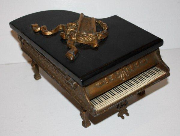 2: Bronze piano music box