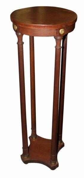 4: Baker pedestal in mahogany