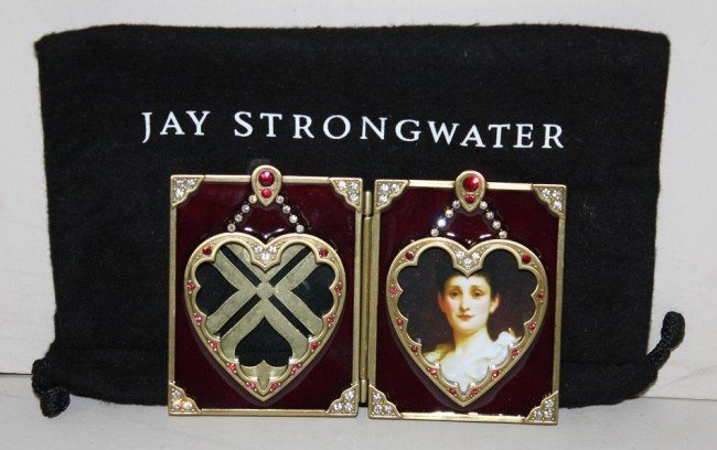 9: Jay Strongwater enamel and crystal frame